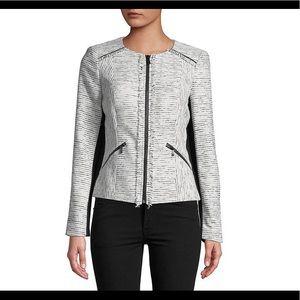 Karl Lagerfeld Paris Fringed Tweed Jacket - Sz 8